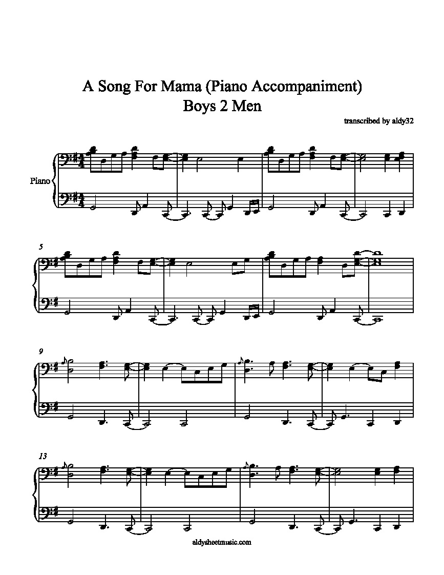 music for a song: